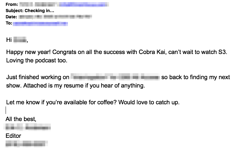 cold email mistakes example 1
